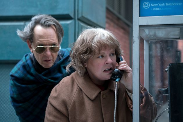 Richard E. Grant and Melissa McCarthy in
