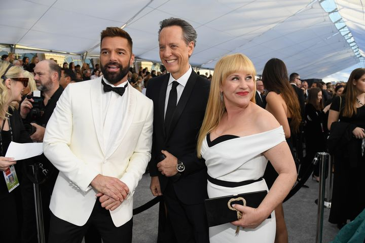 Ricky Martin, Richard E. Grant and Patricia Arquette at the 2019 SAG Awards.