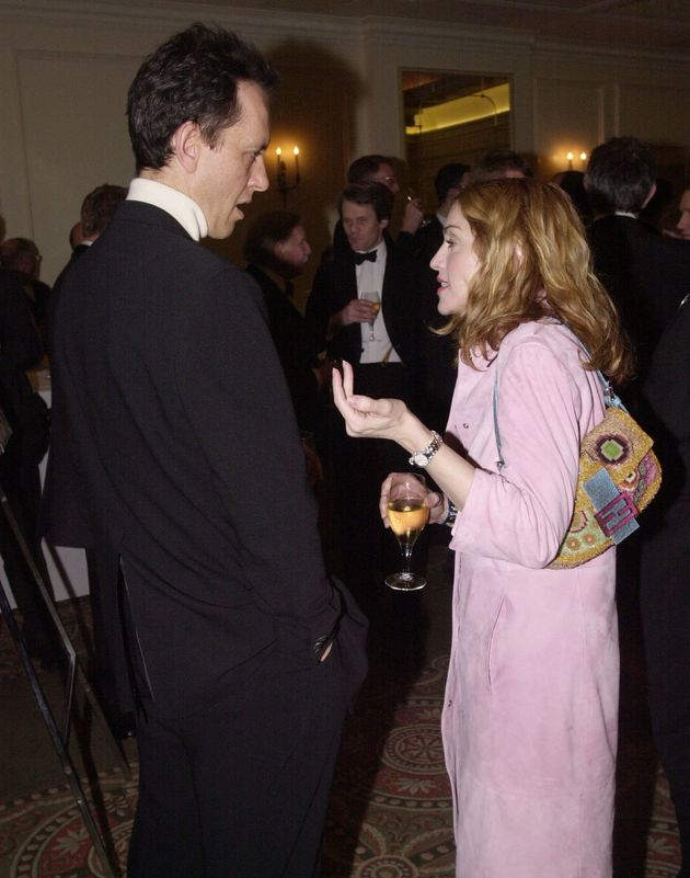 Richard E. Grant and Madonna at theEvening Standard British Film Awards in