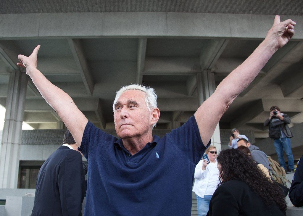 A US judge has issued a partial gag order on Trump advisor Roger Stone (AFP Photo/Joshua Prezant)