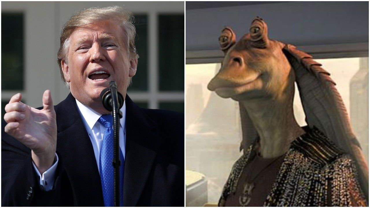 Trump Jar Jar Binks split