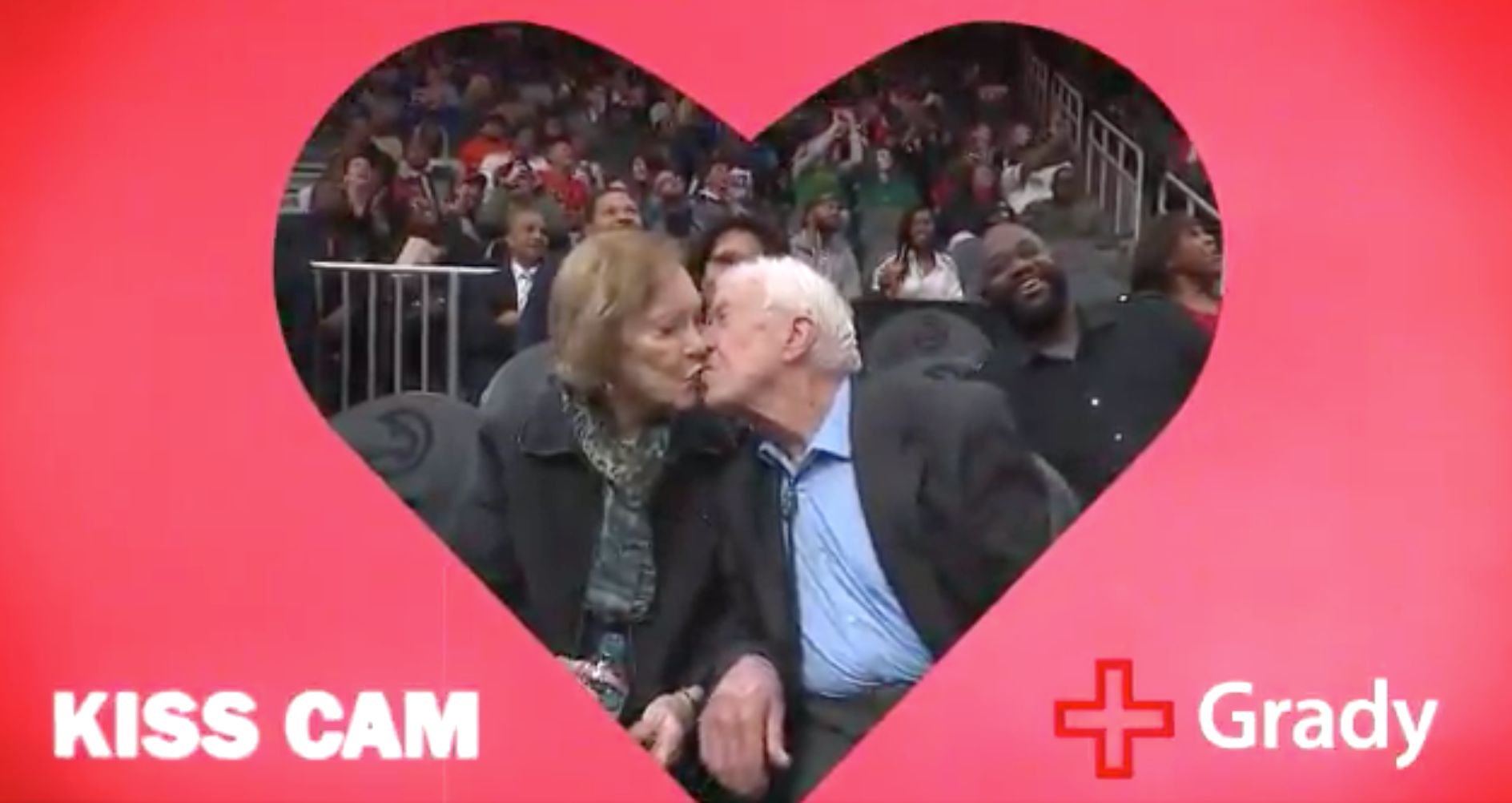 Jimmy Carter Gets Caught On NBA Game Kiss Cam