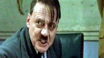 "Bruno Ganz, Swiss actor as Adolf Hitler in scene from movie ""Der Untergang"", Germany, video still"
