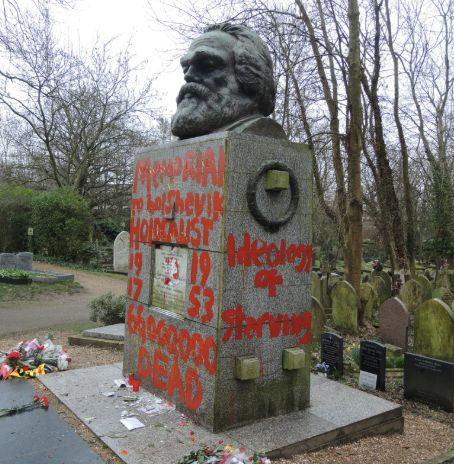 Grave Of Karl Marx Vandalised For Second Time This