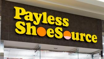 The entrance to Payless ShoeSource at the Coastland Center Shopping Mall. (Photo by: Jeffrey Greenberg/UIG via Getty Images)