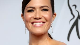 LOS ANGELES, CA - JANUARY 27: Mandy Moore, winner of the Outstanding Performance by an Ensemble in a Drama Series in 'This Is Us,' poses in the press room during the 25th Annual Screen Actors Guild Awards at The Shrine Auditorium on January 27, 2019 in Los Angeles, California. (Photo by Dan MacMedan/Getty Images)