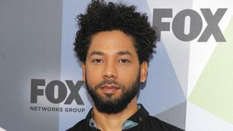 ***FILE PHOTO*** Jussie Smollett hires Michael Cohen's Attorney after alleged suspects released. NEW YORK, NY - MAY 14: Jussie Smollett at the 2018 Fox Network Upfront at Wollman Rink, Central Park on May 14, 2018 in New York City. Credit: John Palmer/MediaPunch /IPX