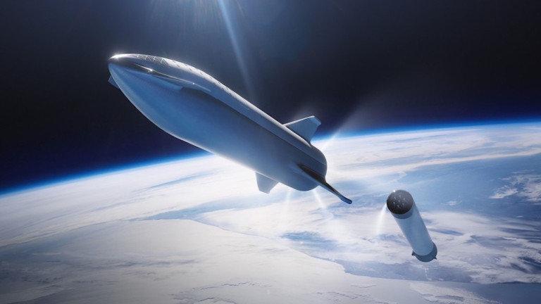 上段の宇宙船がStarship、下段のブースターがSuper