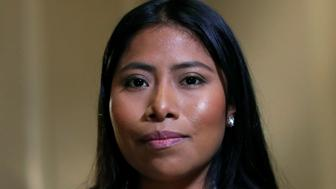"Mexican actor Yalitza Aparicio, who is nominated for an Oscar for Best Actress for ""Roma,"" poses for a portrait in West Hollywood, California, U.S., February 15, 2019. REUTERS/Mario Anzuoni"