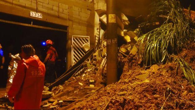 Na noite de sábado (16), o município registrou 13 deslizamentos de