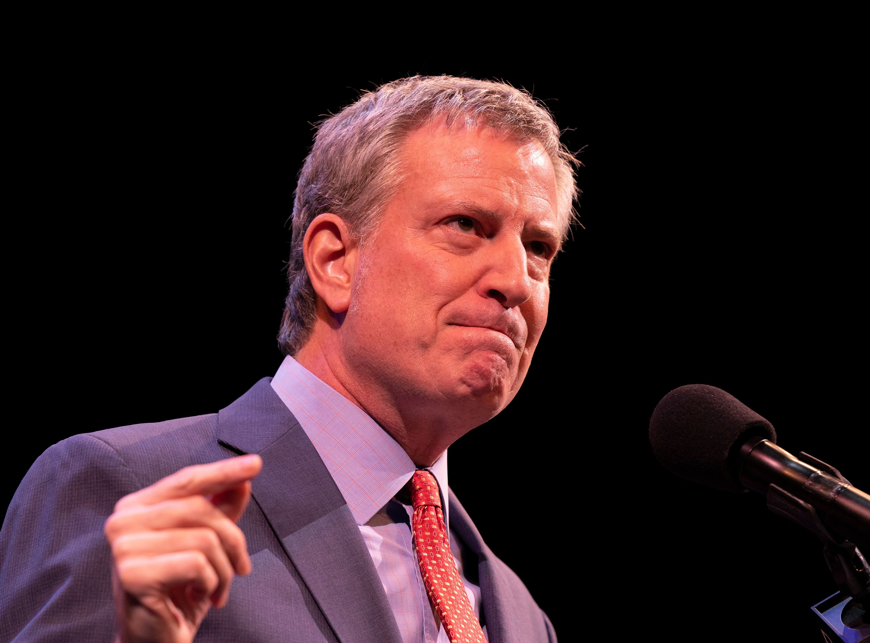 BAM HOWARD GILMAN OPERA HOUSE, NEW YORK, UNITED STATES - 2019/01/21: Mayor Bill de Blasio speaks during 33rd Brooklyn Tribute to Dr. Martin Luther King at BAM Howard Gilman Opera House. (Photo by Lev Radin/Pacific Press/LightRocket via Getty Images)