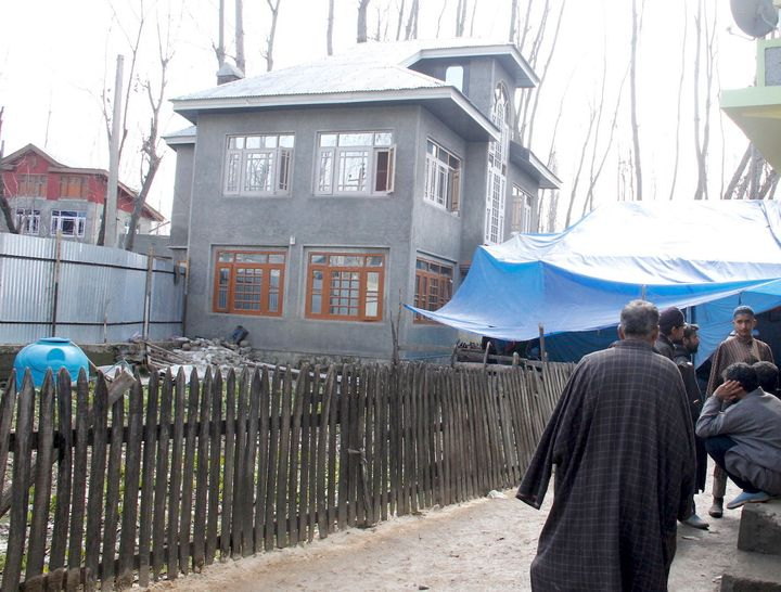 Adil Dar's house in Kashmir.