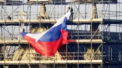 Russian Flag Which Appeared On Salisbury Cathedral Overnight Labelled 'Stupid