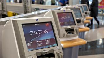 Delta Air Lines Inc. check-in kiosks are seen at O'Hare International Airport (ORD) in Chicago, Illinois, U.S., on Tuesday, Jan. 8, 2019. Delta Air Lines is scheduled to report  earnings on January 15. Photographer: Daniel Acker/Bloomberg via Getty Images