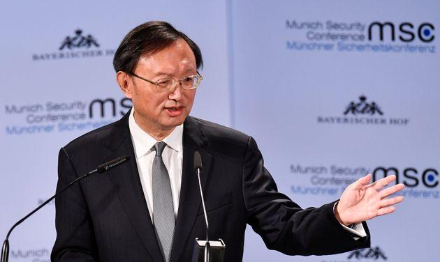 중국 정부를 대표해 연설에 나선 양제츠 중국공산당중앙외사공작위원회 판공실