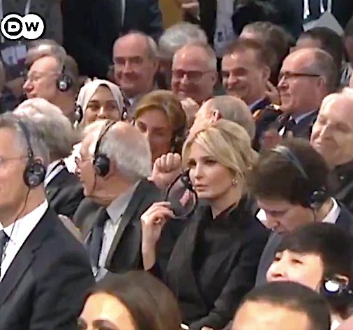 Ivanka Trump glowers at Angela Merkel