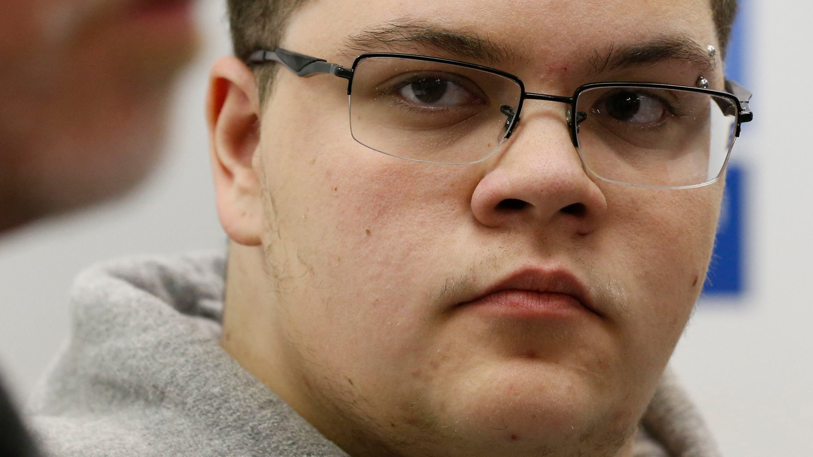 Gloucester County High School senior Gavin Grimm, a transgender student, during a news conference in Richmond, Va., in 2017. (/Steve Helber/AP)