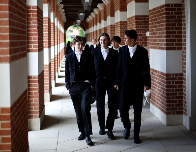 Pupils at Eton, one of the UK's most exclusive public