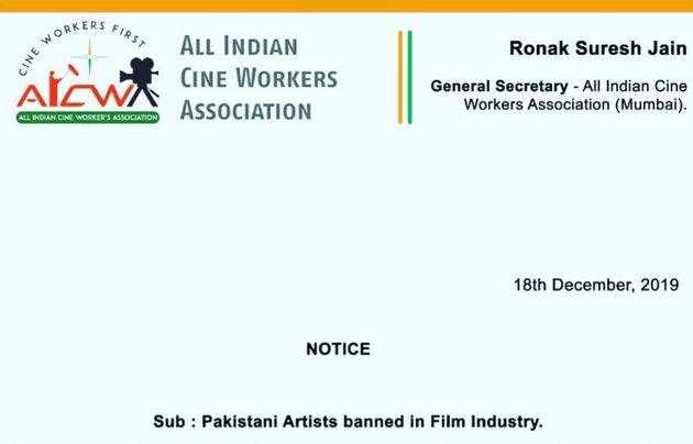 Cine Workers Association Announces 'Total Ban' On Pakistani Actors, Artists Over Pulwama