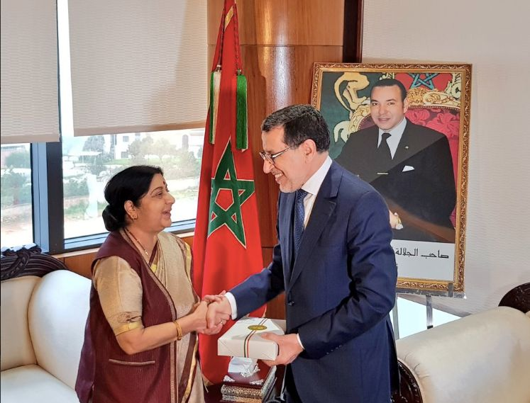La ministre indienne des Affaires étrangères a rencontré El Othmani à