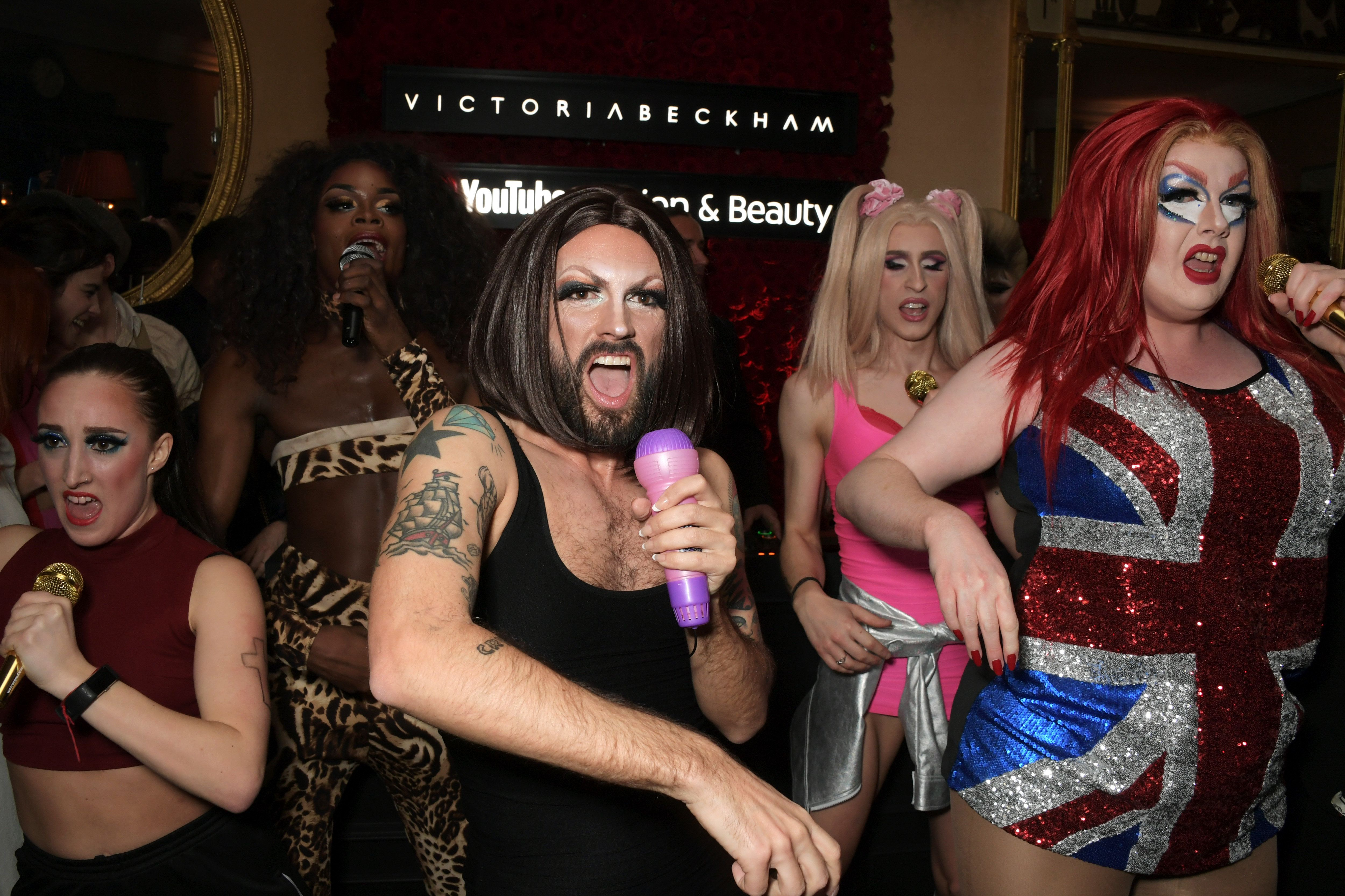 SPICE UP YOUR LIFE: Victoria Beckham Was Surprised With A Spice Girls Drag Act At Her London Fashion Week