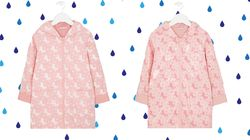 SAVE FOR A RAINY DAY: This Kids Raincoat Changes Colour When It