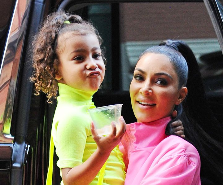 North West and Kim Kardashian spotted together in New York City.