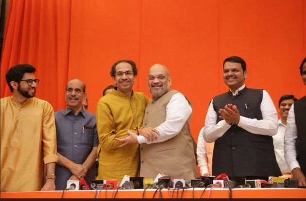 BJP And Shiv Sena Declare Alliance For Lok Sabha, Assembly Polls; Say Ram Mandir 'Common