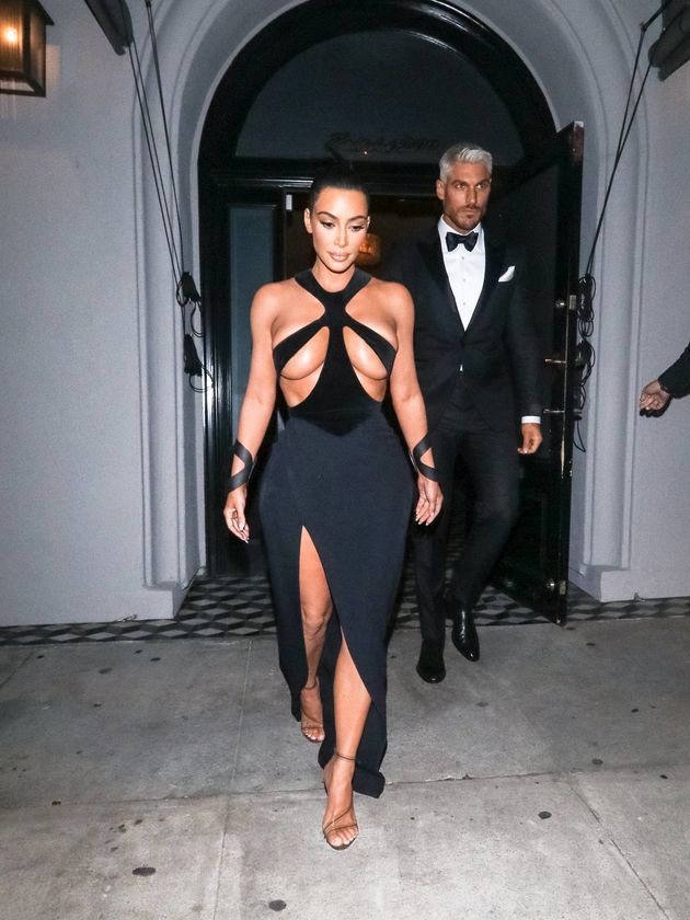 Kim Kardashian at the fifth annual Hollywood Beauty Awards at the Avalon in Hollywood on Feb.