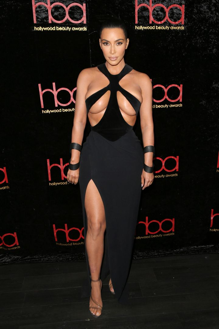 Kim Kardashian at the fifth annual Hollywood Beauty Awards at the Avalon in Hollywood on Feb. 17.