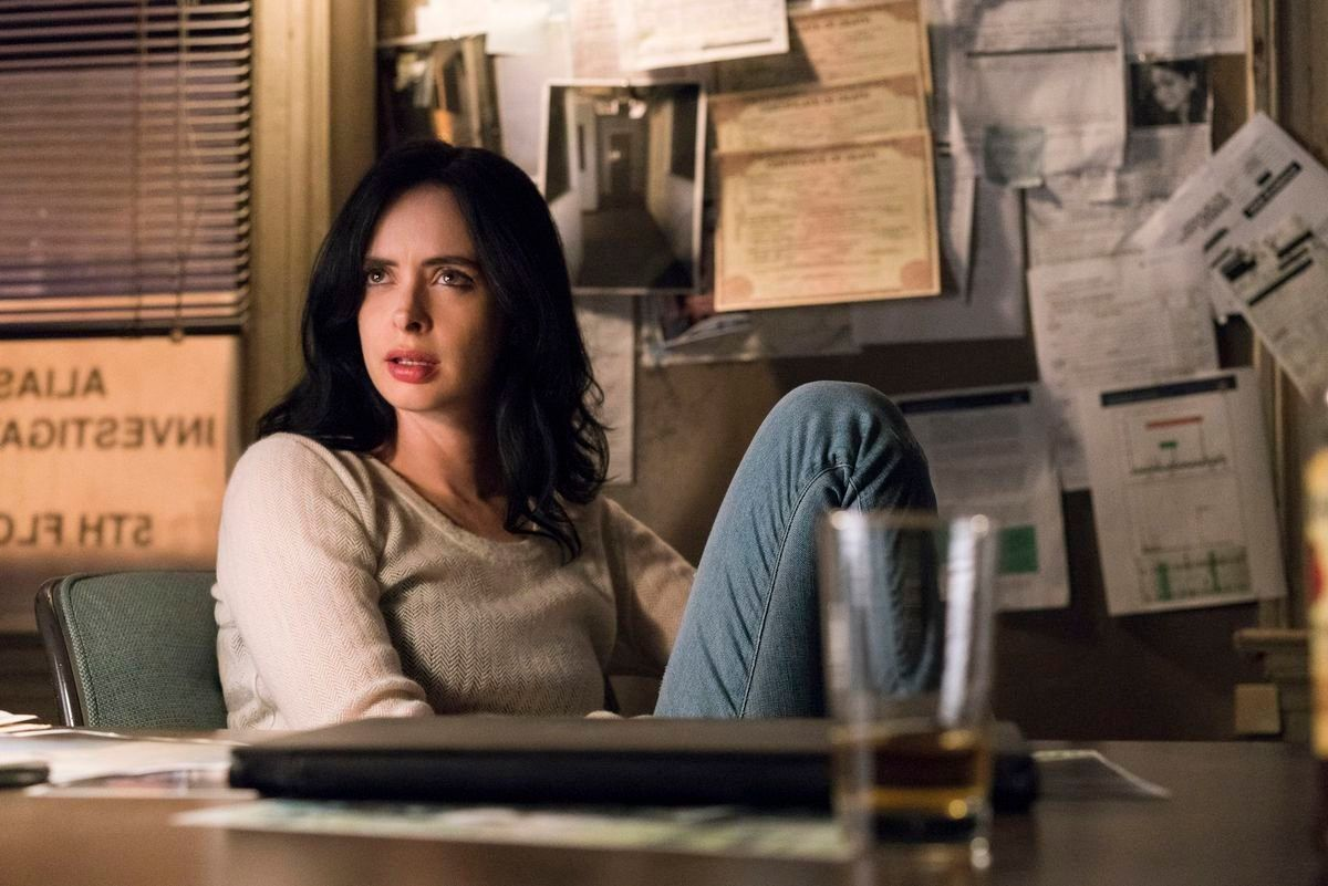 Krysten Ritter, as Jessica Jones, is all of us right now.