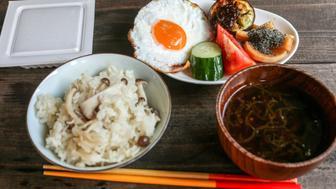 Okinawa style breakfast in Japan