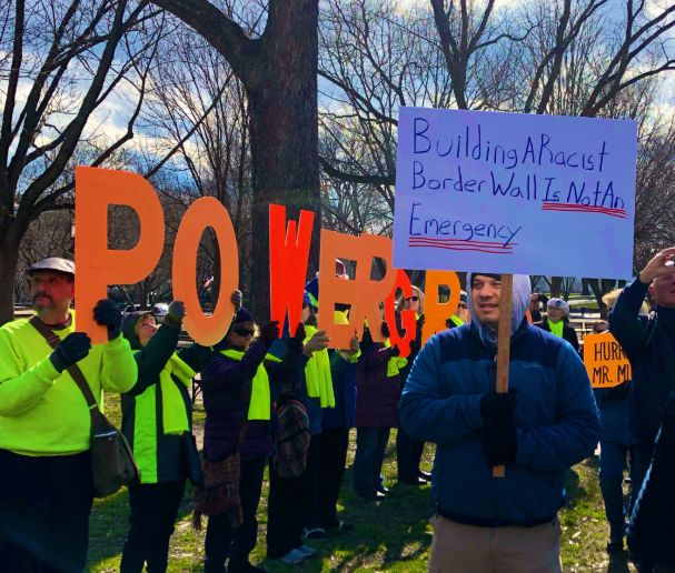 Protest against Trump's national emergency declaration