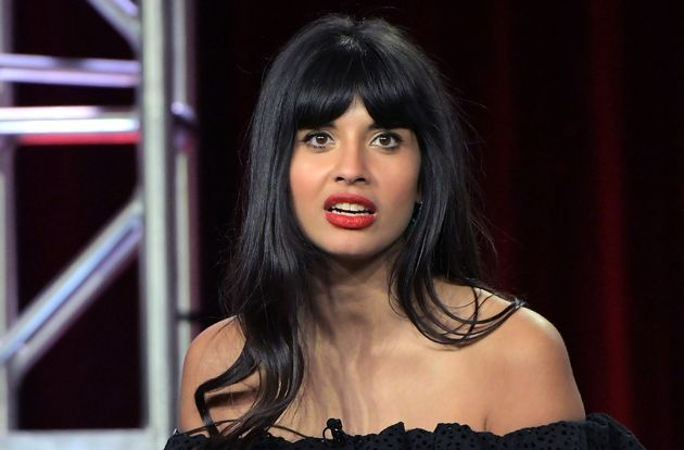 Jameela Jamil Is Just As Confused By These Zipper Jeans As We