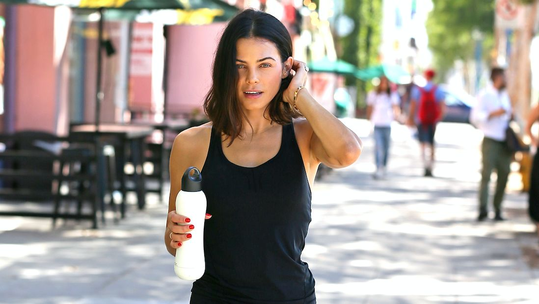 Jenna Dewan Tatum spotted post-workout in West Hollywood with her bobble Insulate water bottle on July 25, 2016 in Los Angeles, California.