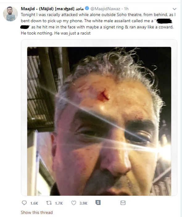 Radio Presenter Maajid Nawaz 'Racially Attacked' In