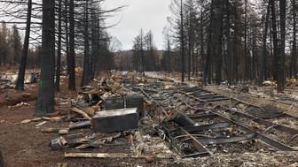 Ridgewood Mobile Home Park in Paradise, turned to ashes by the Camp fire, looks much the same months later -- Feb. 12, 2018