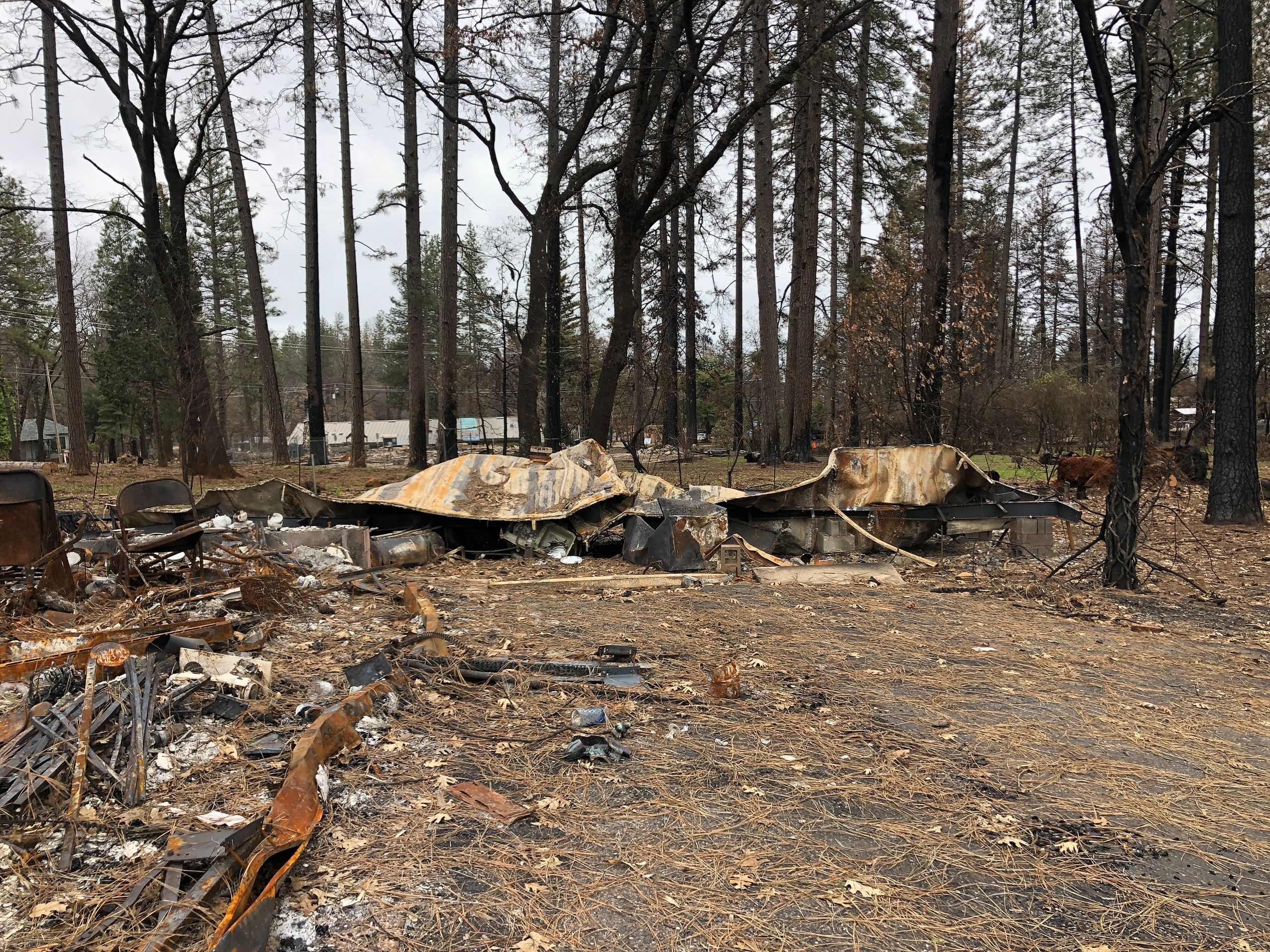 David's trailer, burned in the fire. — Paradise, Feb. 12