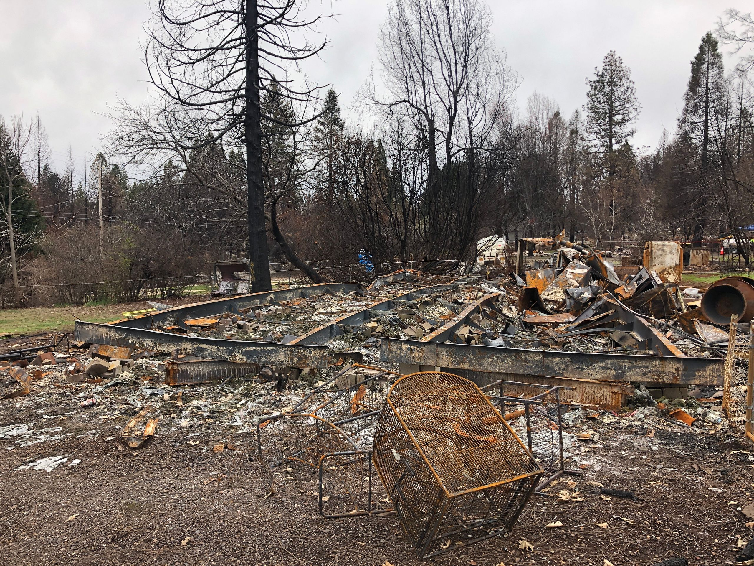 What remains of the Alaways' house after the Camp fire tore through it. — Paradise, Feb. 12