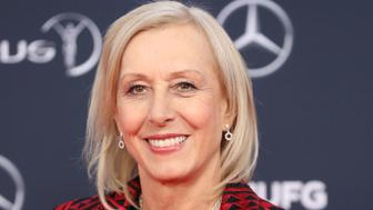 Retired Czech born American tennis player Martina Navratilova poses as she arrives for the 2018 Laureus World Sports Awards ceremony at the Sporting Monte-Carlo complex in Monaco on February 27, 2018. / AFP PHOTO / VALERY HACHE        (Photo credit should read VALERY HACHE/AFP/Getty Images)