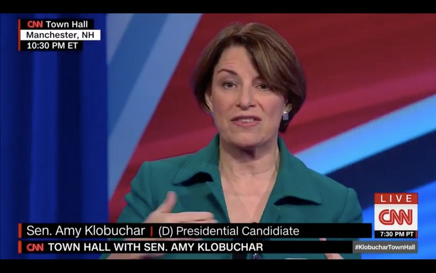 Amy Klobuchar Calls Climate Change A 'Day One' Priority In Presidential Town Hall