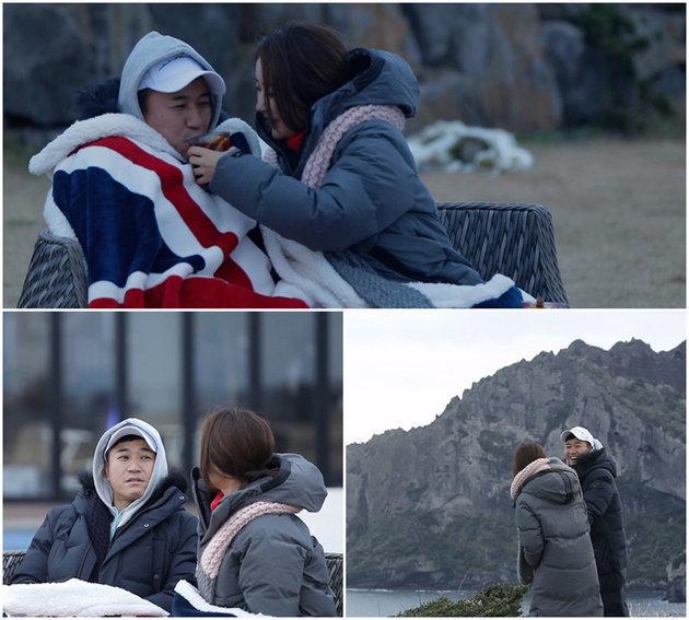 김종민과 황미나가 TV조선 '연애의 맛'에서