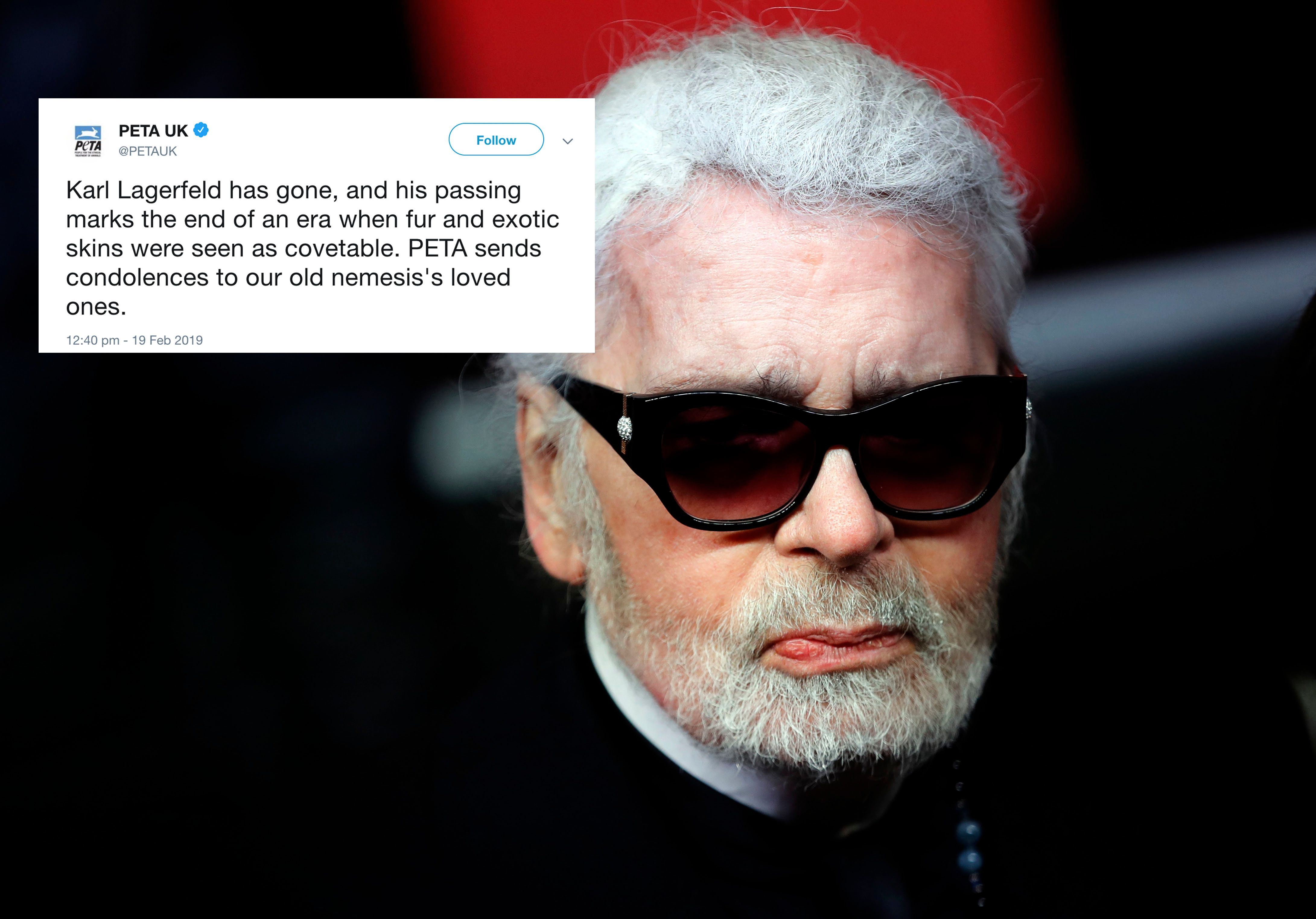 PETA Responds To Karl Lagerfeld Death With 'Gobsmacking' Tribute To 'Old