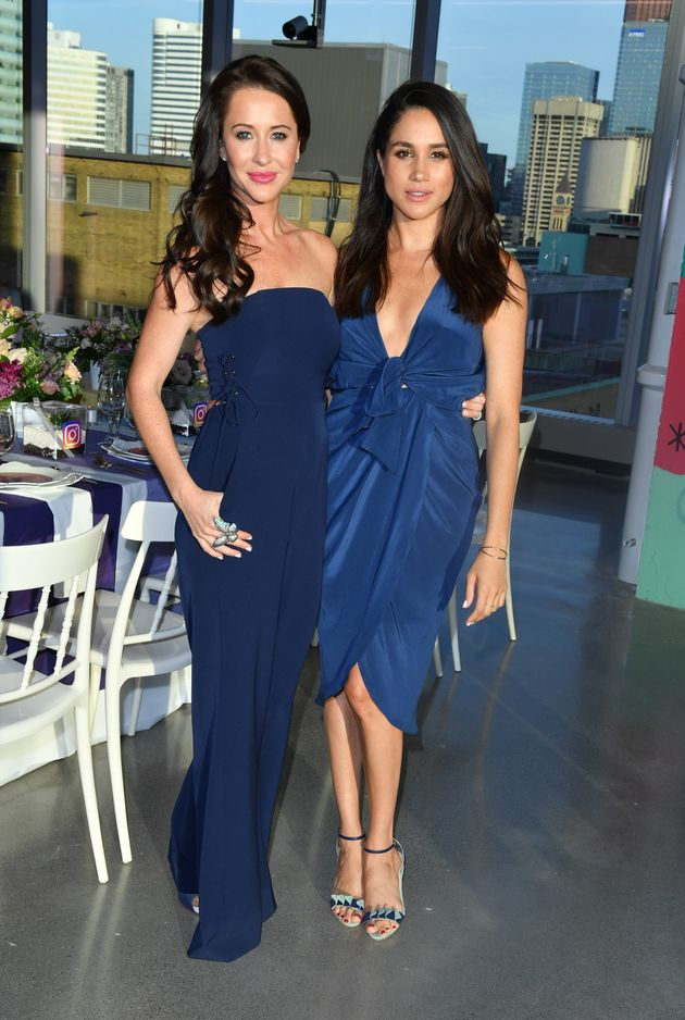 Jessica Mulroney and Meghan Markle attend the Instagram Dinner held at the MARS Discovery District on...