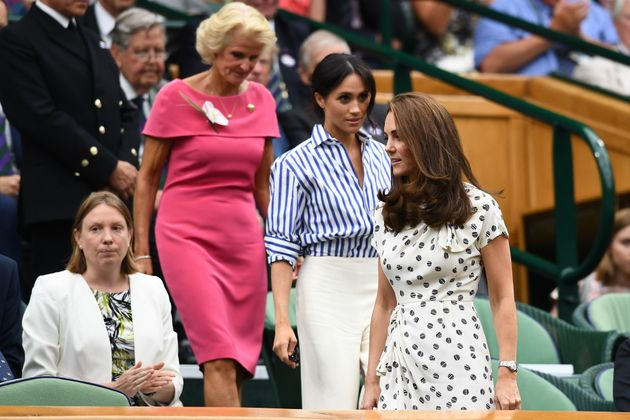 Herzogin Meghan und Herzogin Kate beim Wimbledon Finale