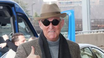 ARLINGTON, VA - FEBRUARY 3: Roger Stone seen arriving at Ronald Reagan Washington National Airport in Arlington, Virginia on his way to Boston on February 3, 2019. Credit: mpi34/MediaPunch /IPX