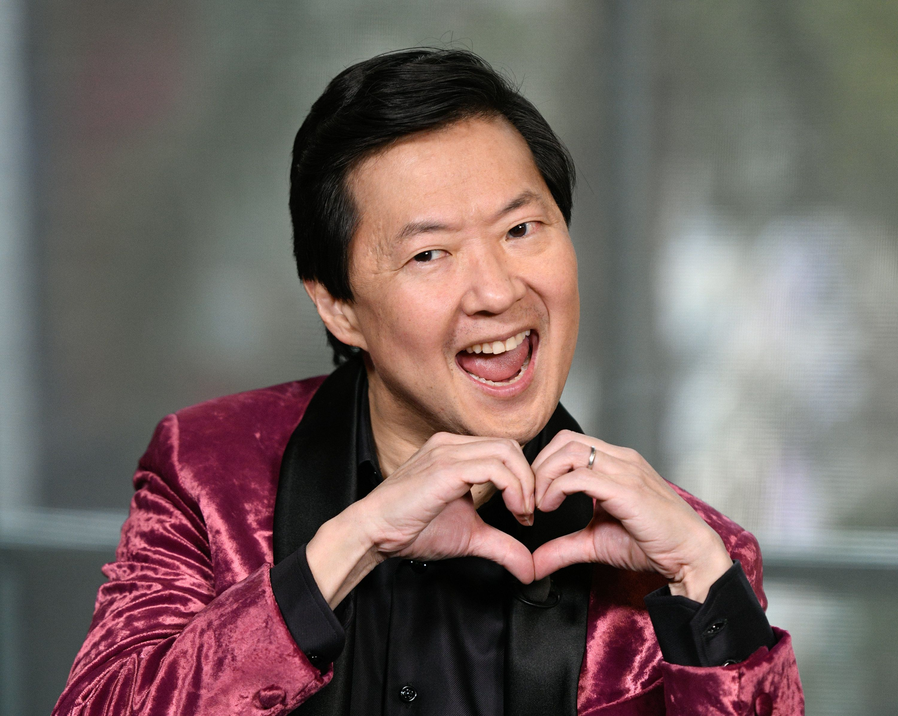 UNIVERSAL CITY, CALIFORNIA - FEBRUARY 13: Ken Jeong visits 'Extra' at Universal Studios Hollywood on February 13, 2019 in Universal City, California. (Photo by Noel Vasquez/Getty Images)