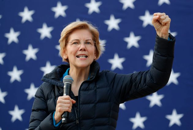 Sen. Elizabeth Warren (D-Mass.) speaks at a campaign event earlier this month in Las Vegas. Warren's...