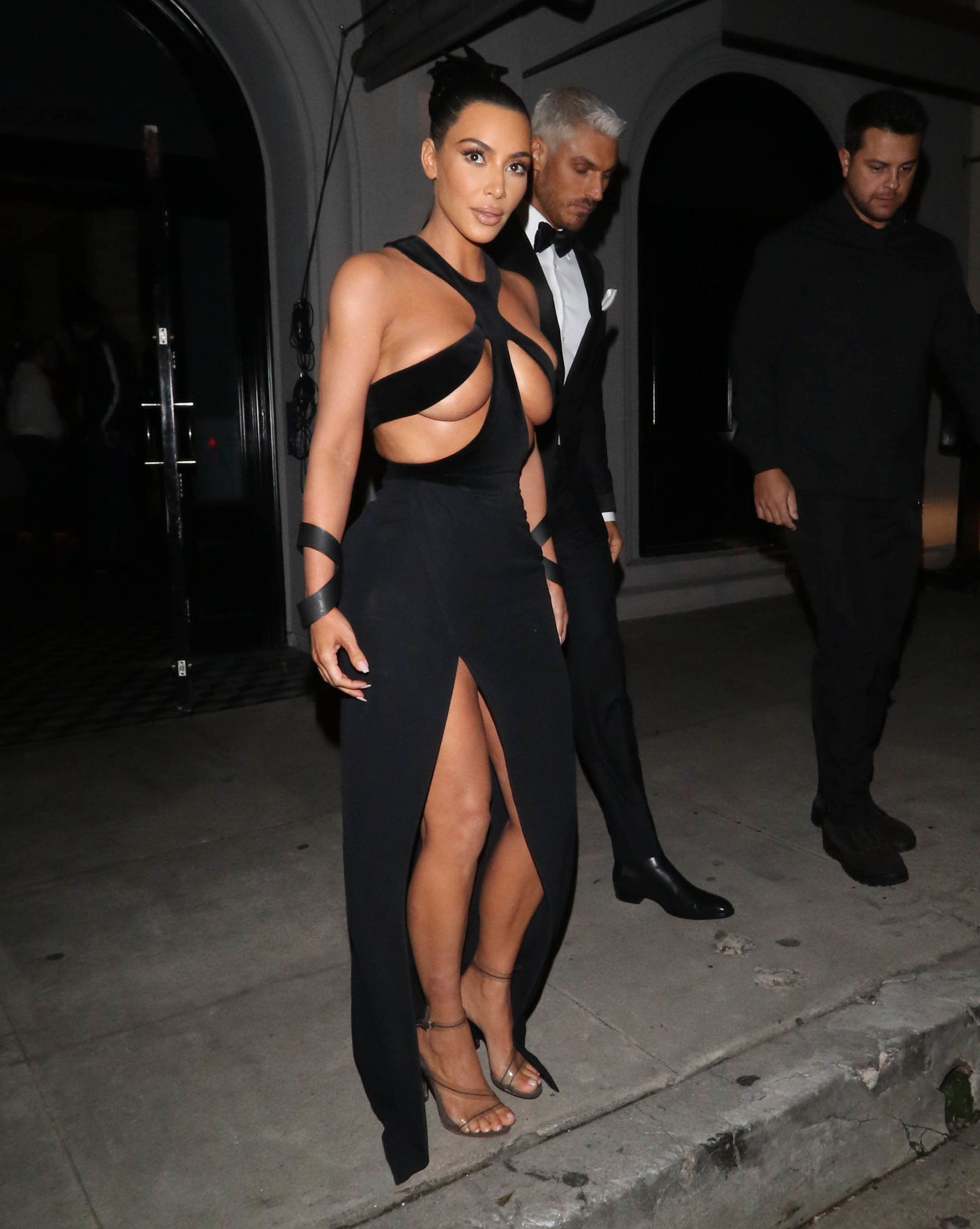 Kim Kardashian wears the real thing -- aThierry Mugler gown -- on Sunday at the fifth annual Hollywood...