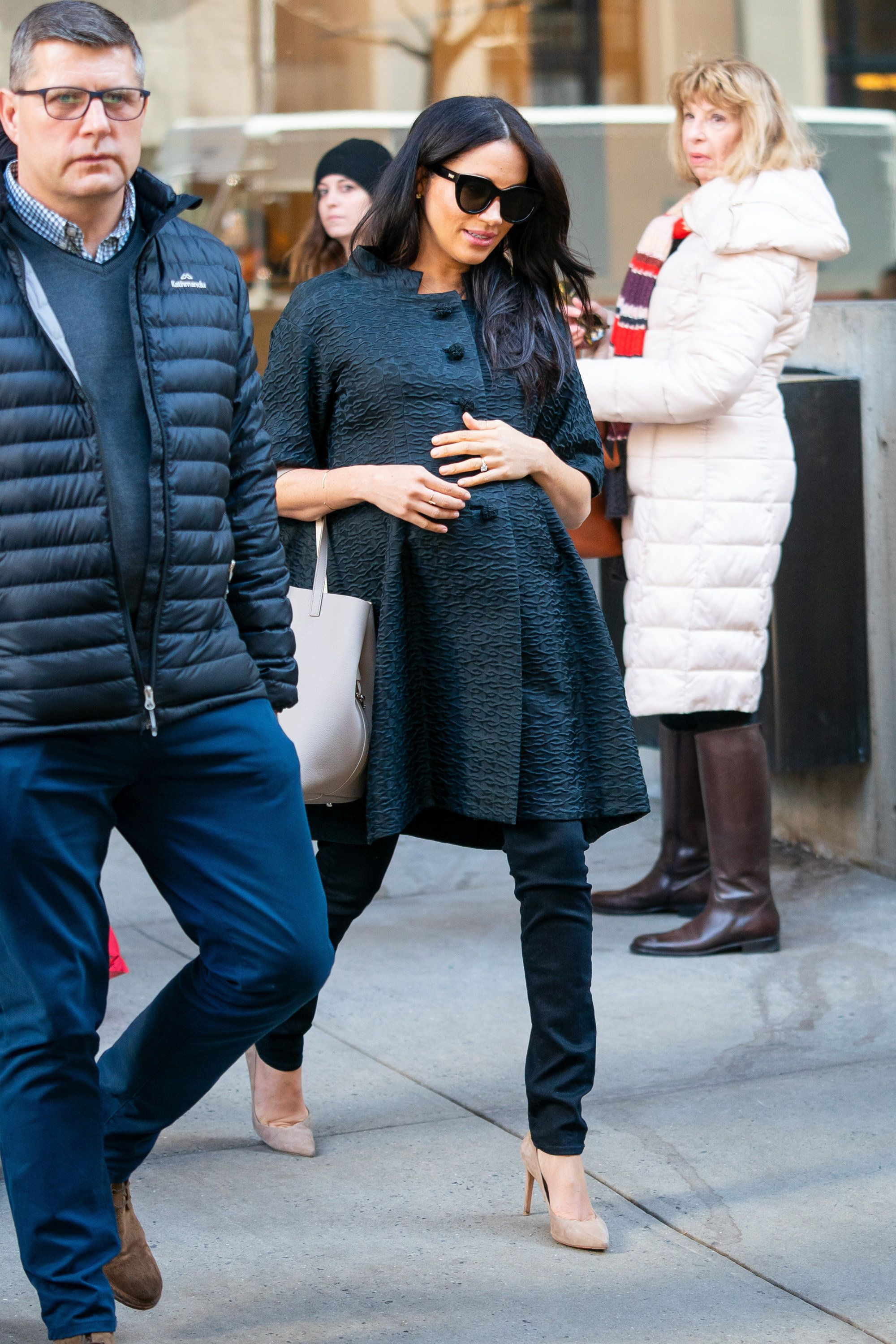 Meghan, Duchess of Sussex is seen in the Upper East Side on Feb. 19 in New York City.